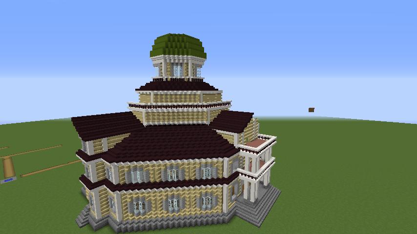 Minecrafterししゃもがマインクラフトでぷっこ村にみくに龍翔館をモデルにした村役場を建築する5