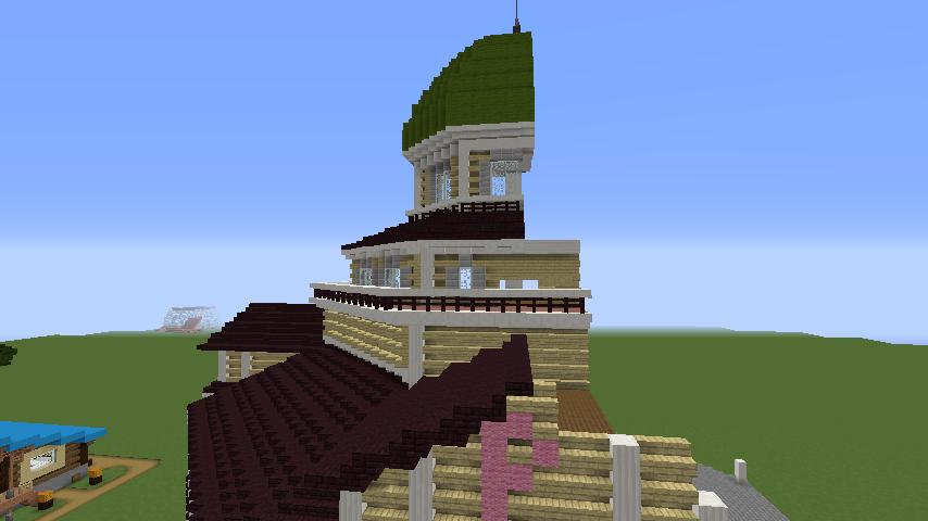 Minecrafterししゃもがマインクラフトでぷっこ村にみくに龍翔館をモデルにした村役場を建築する6