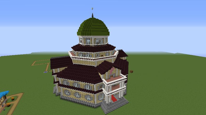 Minecrafterししゃもがマインクラフトでぷっこ村にみくに龍翔館をモデルにした村役場を建築する7