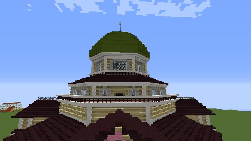 Minecrafterししゃもがマインクラフトでぷっこ村にみくに龍翔館をモデルにした役場を建築する15