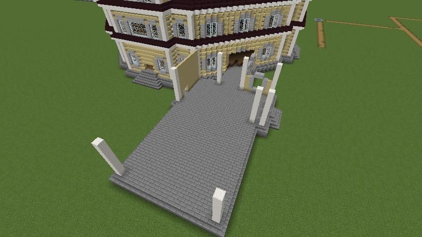 Minecrafterししゃもがマインクラフトでぷっこ村にみくに龍翔館をモデルにした村役場を建築する8