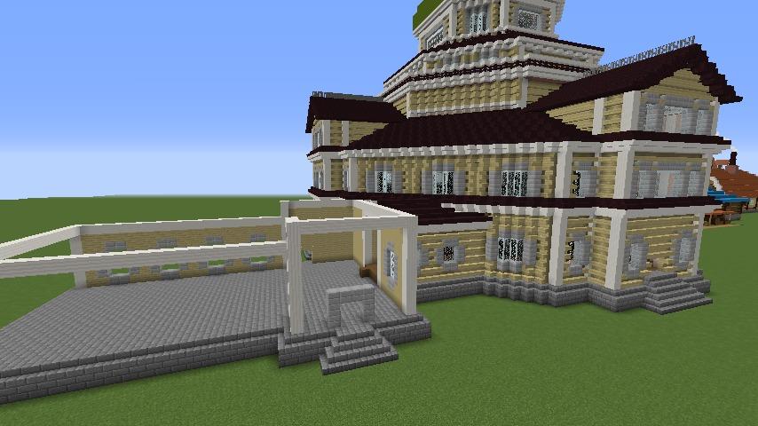 Minecrafterししゃもがマインクラフトでぷっこ村にみくに龍翔館をモデルにした村役場を建築する9