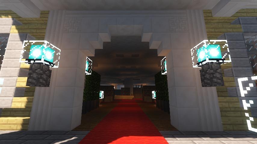 Minecrafterししゃもがマインクラフトでぷっこ村にみくに龍翔館をモデルにした役場を建築する7