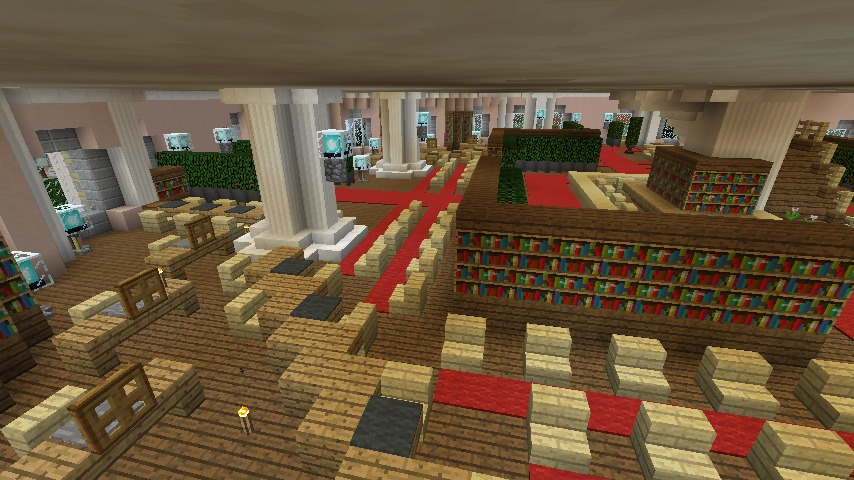 Minecrafterししゃもがマインクラフトでぷっこ村にみくに龍翔館をモデルにした役場を建築する8