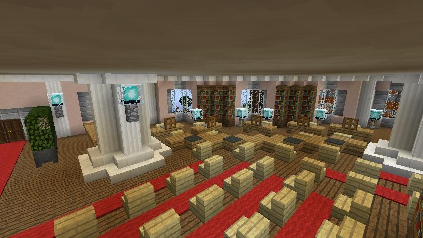 Minecrafterししゃもがマインクラフトでぷっこ村にみくに龍翔館をモデルにした役場を建築する9