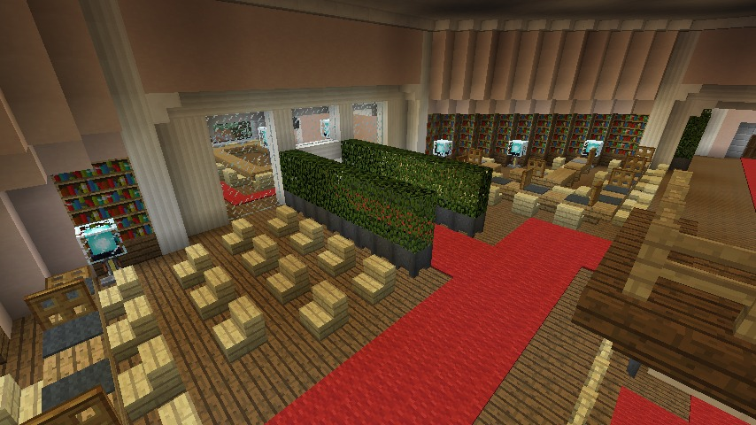 Minecrafterししゃもがマインクラフトでぷっこ村にみくに龍翔館をモデルにした役場を建築する10