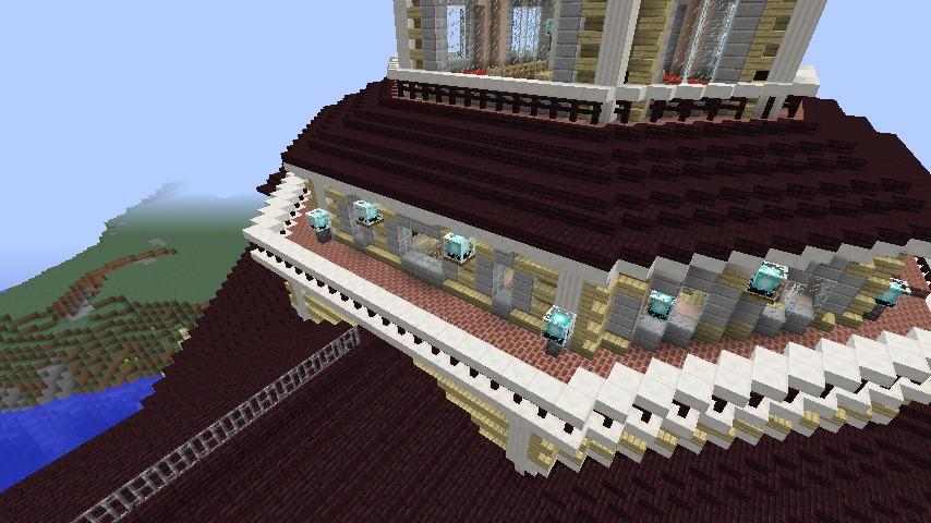 Minecrafterししゃもがマインクラフトでぷっこ村にみくに龍翔館をモデルにした役場を建築する11