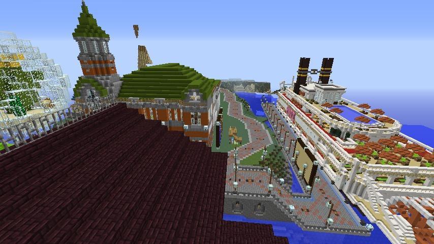 Minecrafterししゃもがマインクラフトでぷっこ村にみくに龍翔館をモデルにした役場を建築する13