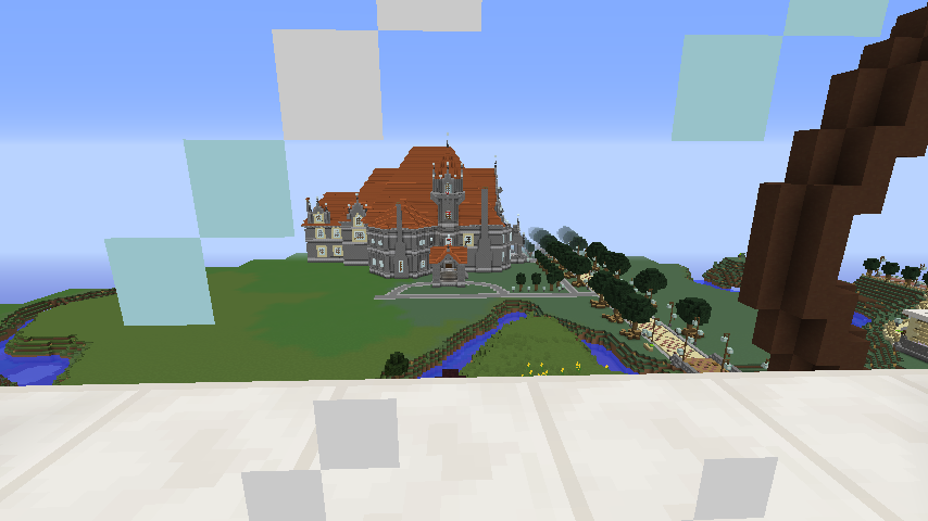 Minecrafterししゃもがマインクラフトでぷっこ村にみくに龍翔館をモデルにした役場を建築する16