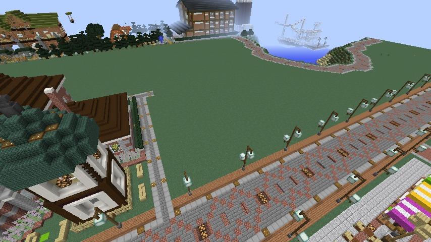Minecrafterししゃもがマインクラフトでぷっこ村に旧日本郵船株式会社小樽支店をモデルに郵便局を建築する9