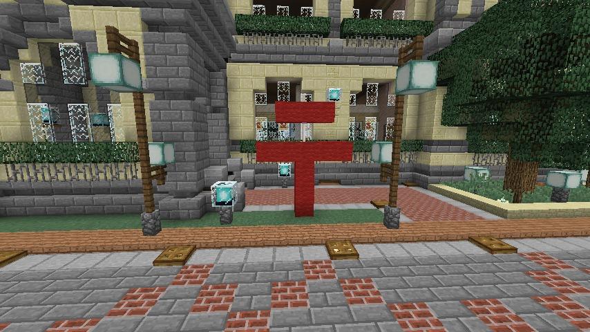 Minecrafterししゃもがマインクラフトでぷっこ村に旧日本郵船株式会社小樽支店をモデルに郵便局を建築する15