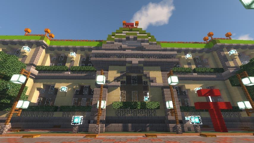 Minecrafterししゃもがマインクラフトでぷっこ村に日本郵船株式会社小樽支店をもでるにした郵便局を作る11