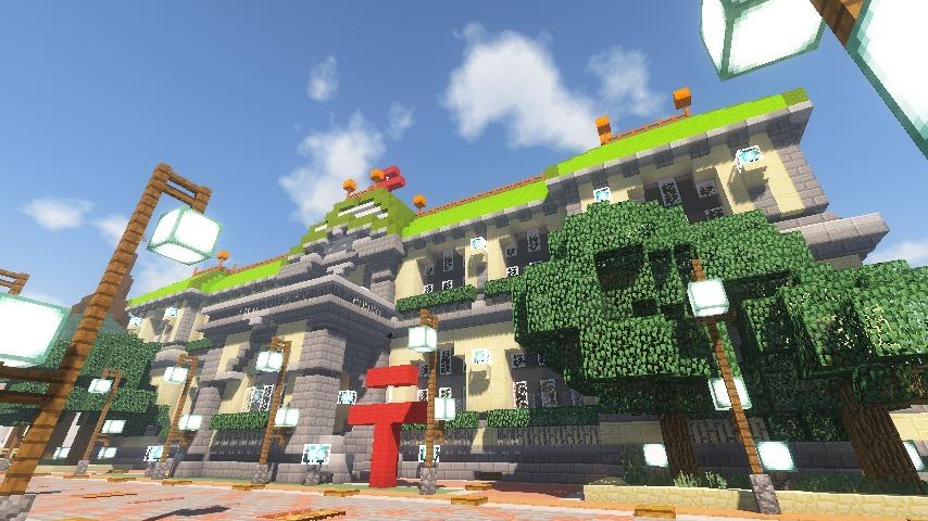 Minecrafterししゃもがマインクラフトでぷっこ村に日本郵船株式会社小樽支店をもでるにした郵便局を作る10