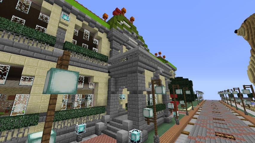 Minecrafterししゃもがマインクラフトでぷっこ村に日本郵船株式会社小樽支店をもでるにした郵便局を作る2
