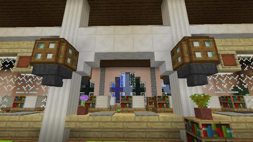 Minecrafterししゃもがマインクラフトでぷっこ村に日本郵船株式会社小樽支店をもでるにした郵便局を作る3
