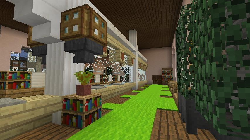 Minecrafterししゃもがマインクラフトでぷっこ村に日本郵船株式会社小樽支店をもでるにした郵便局を作る4