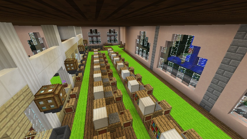 Minecrafterししゃもがマインクラフトでぷっこ村に日本郵船株式会社小樽支店をもでるにした郵便局を作る6