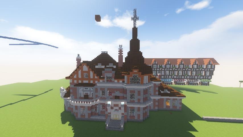 Minecrafterししゃもがマインクラフトでぷっこ村に国際友好記念図書館を再現する12