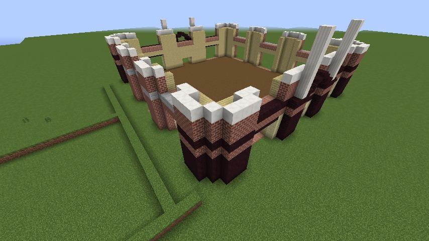 Minecrafterししゃもがマインクラフトでぷっこ村にレストランを建築する4