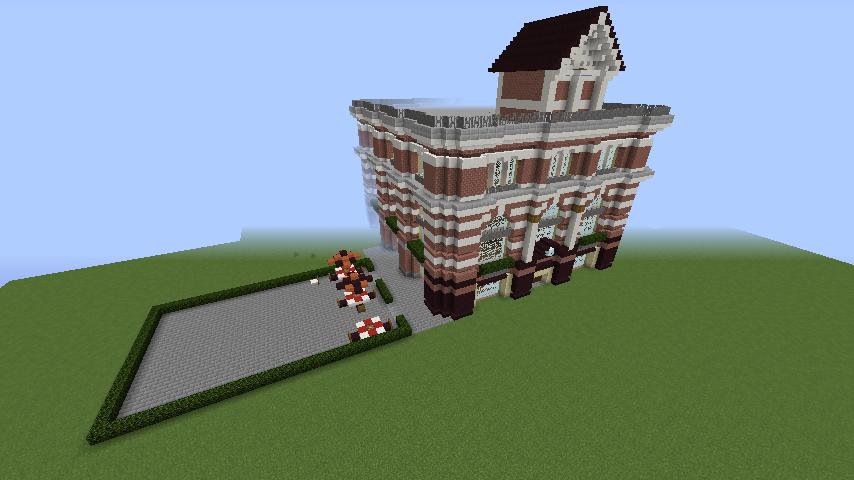 Minecrafterししゃもがマインクラフトでぷっこ村にレストランを建築する9