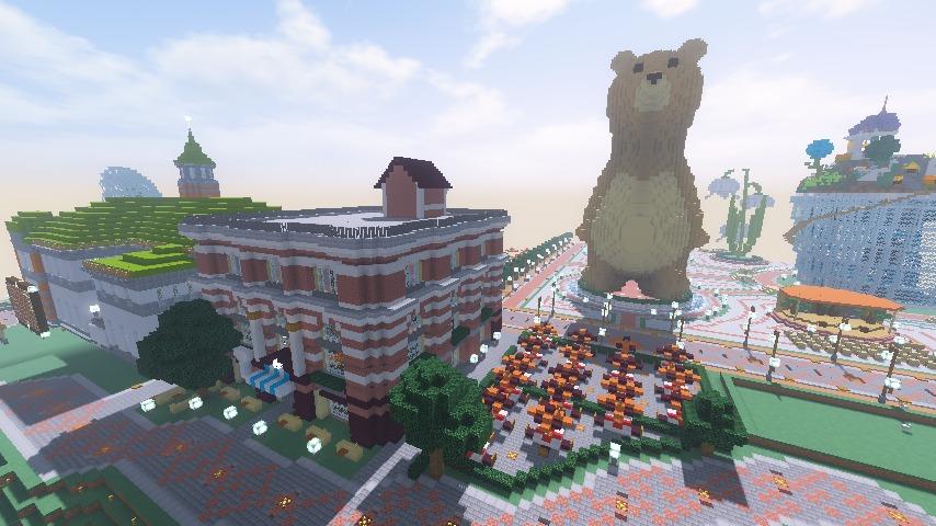Minecrafterししゃもがマインクラフトでぷっこ村にレストランを建築する13
