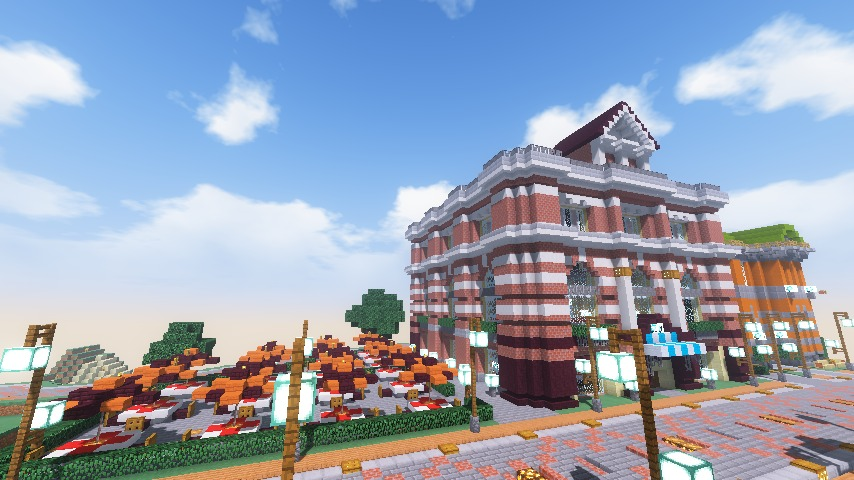Minecrafterししゃもがマインクラフトでぷっこ村にレストランを建築する12