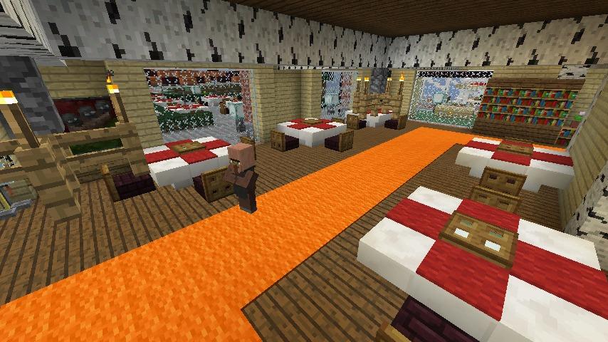 Minecrafterししゃもがマインクラフトでぷっこ村にレストランを建築する6