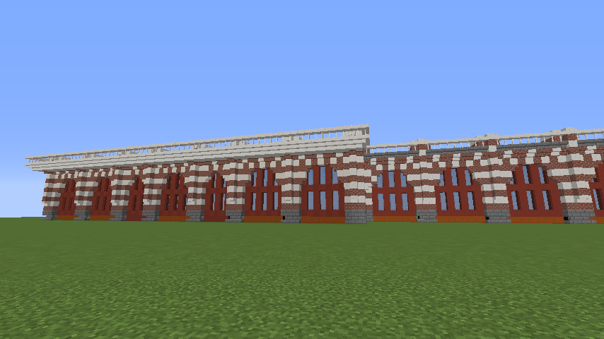 Minecrafterししゃもがマインクラフトでぷっこ村にCentral Fire Stationをモデルにした消防署を建築する2