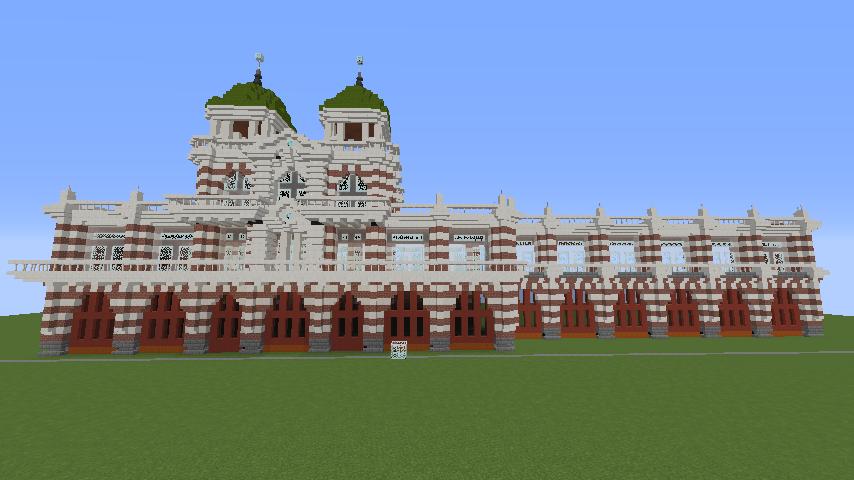 Minecrafterししゃもがマインクラフトでぷっこ村にCentral Fire Stationをモデルにした消防署を建築する5