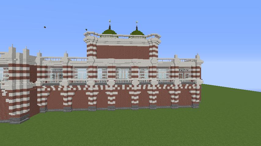 Minecrafterししゃもがマインクラフトでぷっこ村にCentral Fire Stationをモデルにした消防署を建築する77