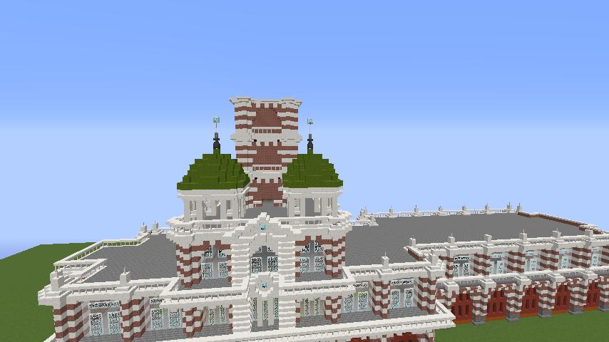 Minecrafterししゃもがマインクラフトでぷっこ村にCentral Fire Stationをモデルにした消防署を建築する8