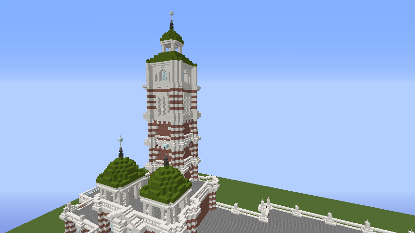 Minecrafterししゃもがマインクラフトでぷっこ村にCentral Fire Stationをモデルにした消防署を建築する9