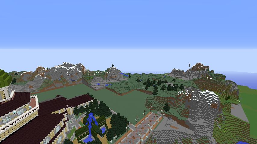 Minecrafterししゃもがマインクラフトでぷっこ村にCentral Fire Stationをモデルにした消防署を建築する12