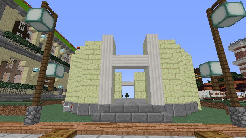 Minecrafterししゃもがマインクラフトでぷっこ村に交番を建築する3