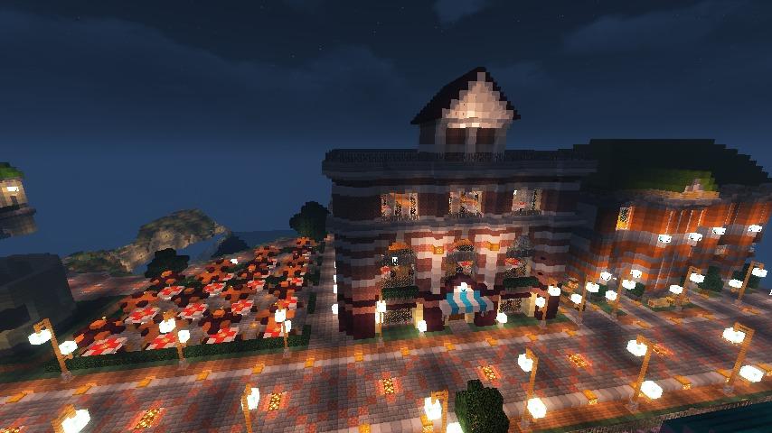 Minecrafterししゃもがマインクラフトでぷっこ村にレストランを建築する10