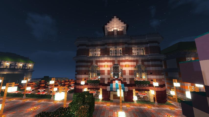 Minecrafterししゃもがマインクラフトでぷっこ村にレストランを建築する2