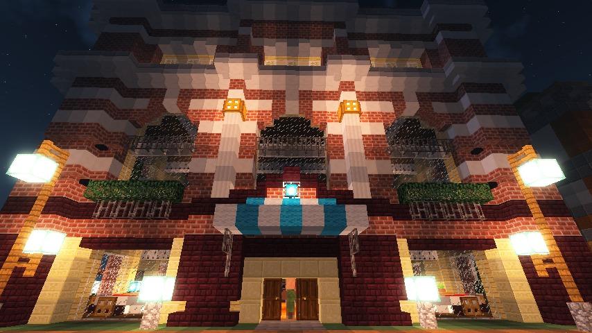Minecrafterししゃもがマインクラフトでぷっこ村にレストランを建築する3