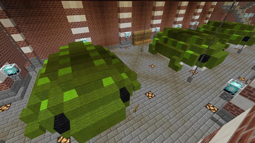Minecrafterししゃもがマインクラフトでぷっこ村にCentral Fire Stationをモデルにした消防署を建築する7