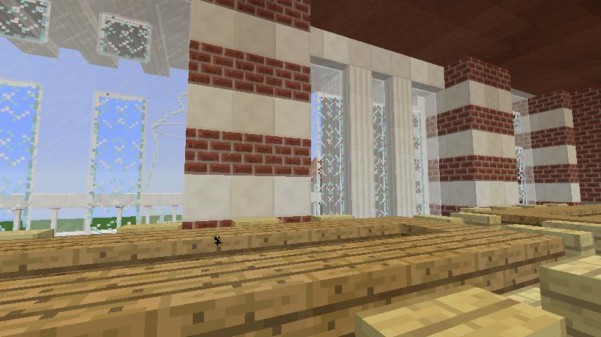 Minecrafterししゃもがマインクラフトでぷっこ村にCentral Fire Stationをモデルにした消防署を建築する13