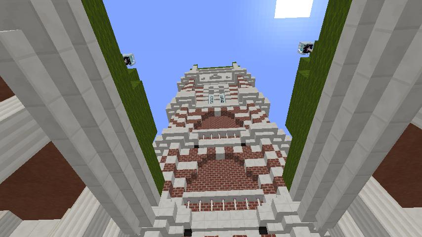 Minecrafterししゃもがマインクラフトでぷっこ村にCentral Fire Stationをモデルにした消防署を建築する14