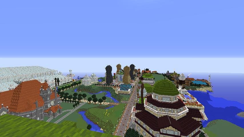 Minecrafterししゃもがマインクラフトでぷっこ村にCentral Fire Stationをモデルにした消防署を建築する17