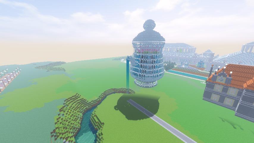 Minecrafterししゃもがマインクラフトでぷっこ村に新たな水源を設置する2