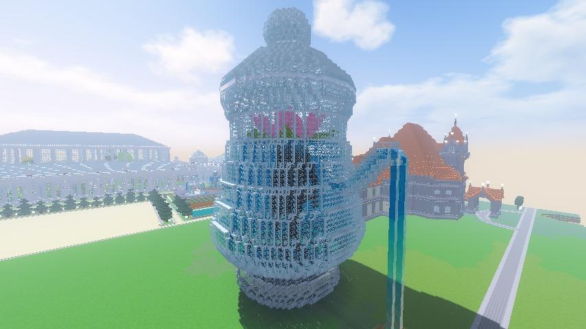Minecrafterししゃもがマインクラフトでぷっこ村に新たな水源を設置する3