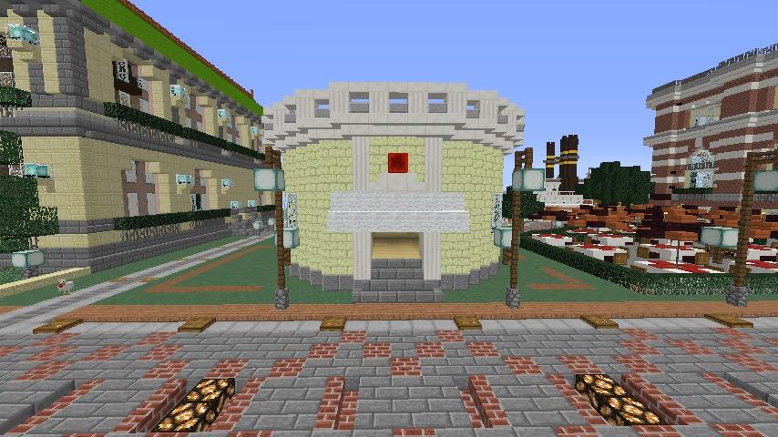Minecrafterししゃもがマインクラフトでぷっこ村に交番を建築する4