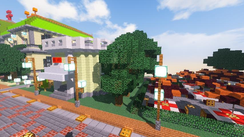 Minecrafterししゃもがマインクラフトでぷっこ村に交番を建築する5