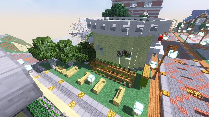 Minecrafterししゃもがマインクラフトでぷっこ村に交番を建築する6