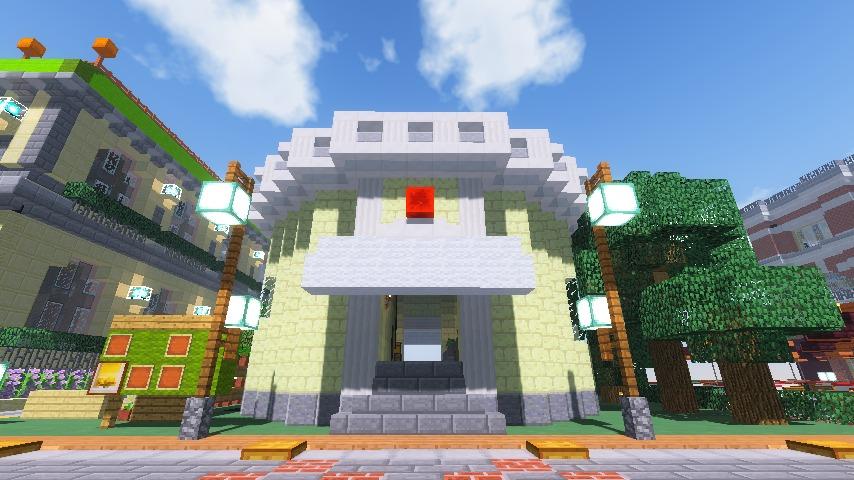 Minecrafterししゃもがマインクラフトでぷっこ村に交番を建築する8