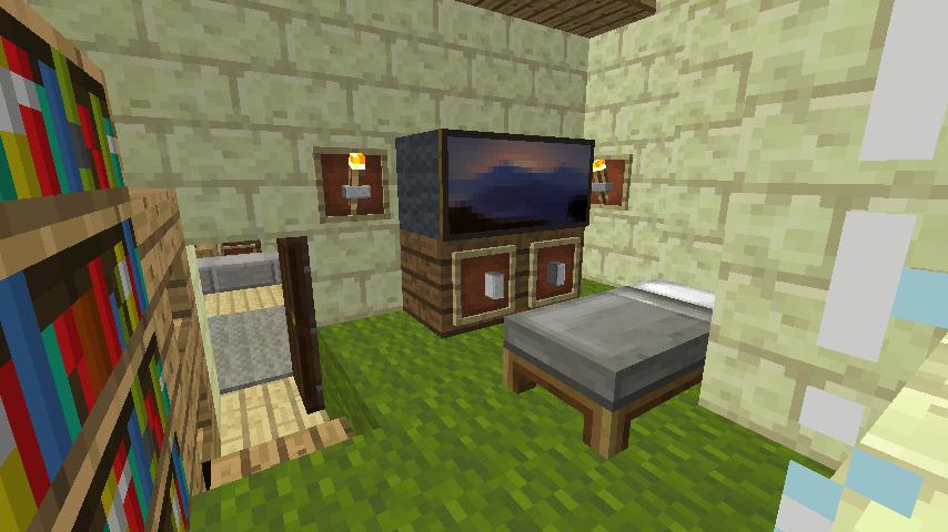 Minecrafterししゃもがマインクラフトでぷっこ村に交番を建築する11