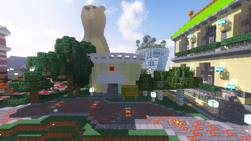 Minecrafterししゃもがマインクラフトでぷっこ村に交番を建築する12