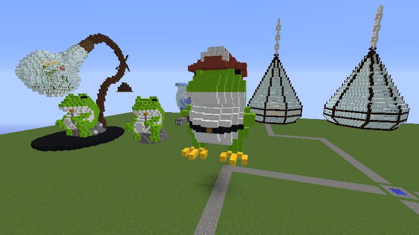 Minecrafterししゃもがマインクラフトで消防職員の訓練を実施する4